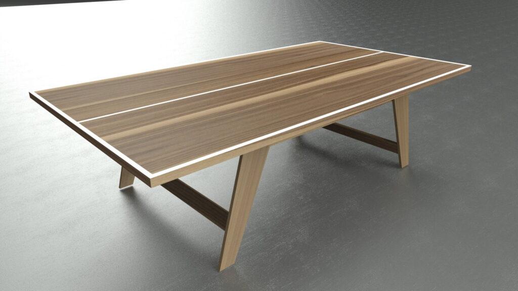 Tavolo da Ping Pong in Noce